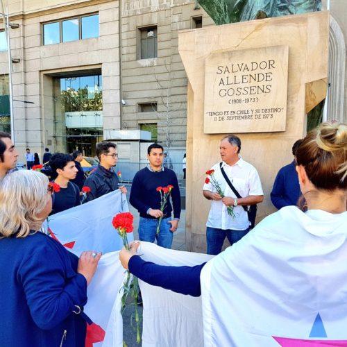 Progresistas homenajearon a Allende a 48 años del triunfo del pueblo