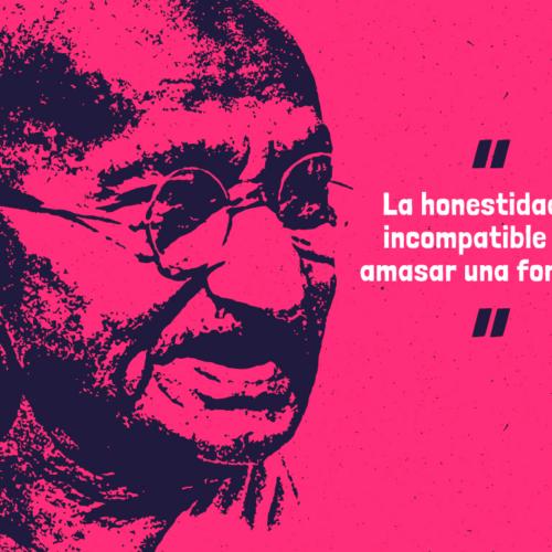 """Gandhi y sus mejores frases: """"Los grilletes de oro son mucho peores que los de hierro"""""""