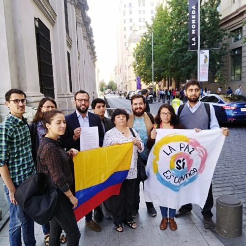 Juventud Progresista entregó carta en La Moneda interpelando a Piñera por situación de crisis en Colombia