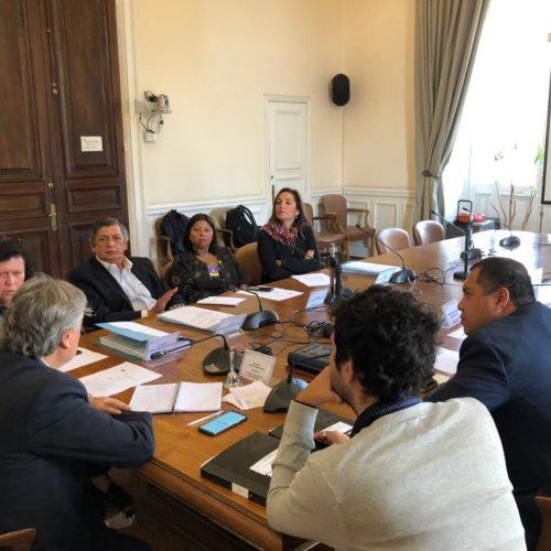 PRO, PC y senador Navarro se coordinan con agrupación de DD.DD. para levantar agenda por los DD.HH.
