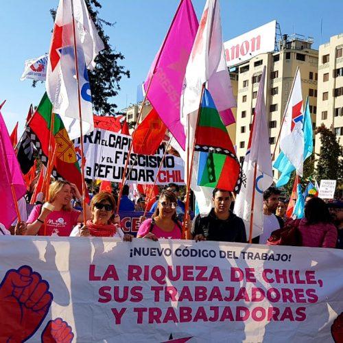 L@s Progresistas marcharon por las calles de Chile en el día de las y los trabajadores