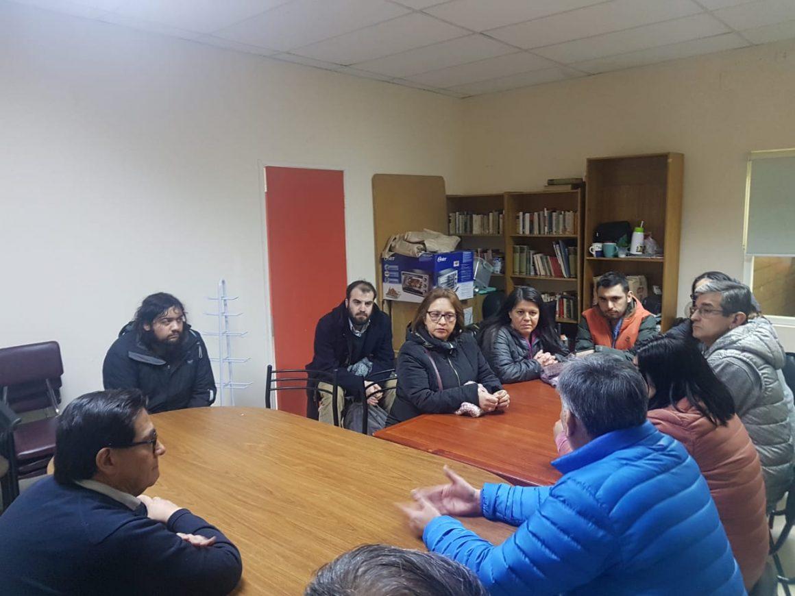 Dirigentes del PC y PRO se reunieron con el Director del ELEAM de Punta Arenas, dirigentes sindicales y trabajadores del establecimiento