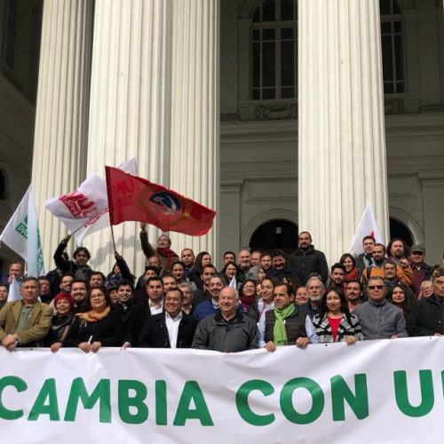 """Unidad para el Cambio en su lanzamiento en la RM: """"Las horas de Piñera y la derecha están contadas"""""""