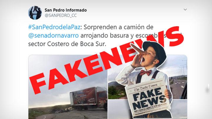 Navarro y Guillier presentan querella por Fake News viral sobre camión con juegos infantiles
