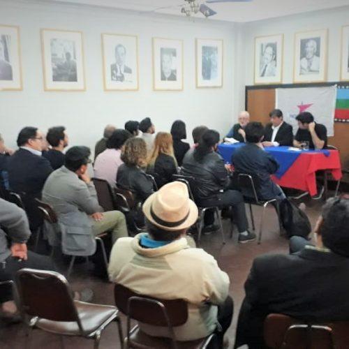 """Exitoso conversatorio """"Sin memoria no hay futuro"""" en Taberna del Círculo de Periodistas de Chile"""