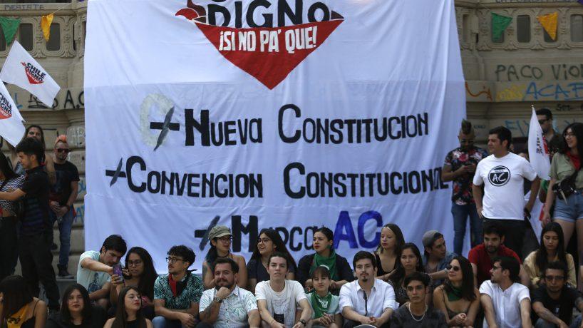 """[T 13] Partidos de oposición lanza campaña """"Chile digno, sino pa' qué"""" que apoya el proceso constituyente"""