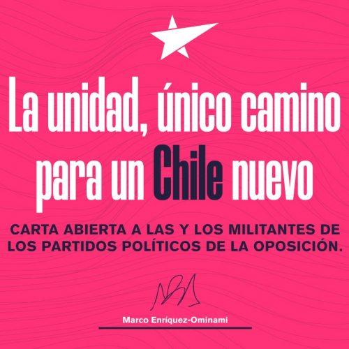 La unidad, único camino para un Chile nuevo