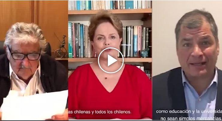 Mujica, Rouseff y Correa: el mensaje de expresidentes latinoamericanos a favor de nueva Constitución
