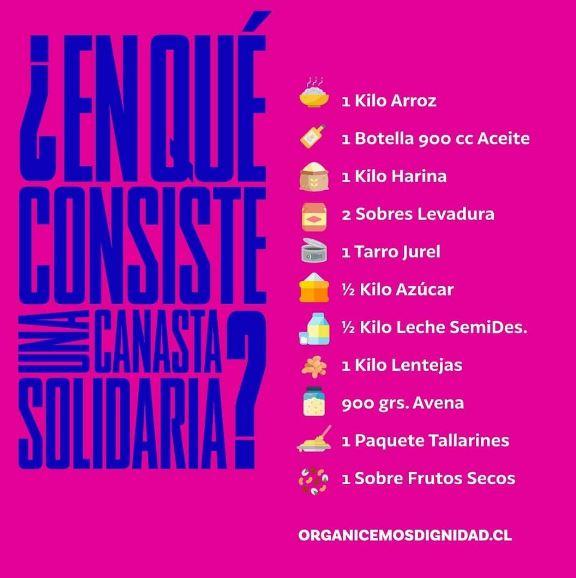 Juventudes Progresistas impulsan campaña de alimentos en ayuda a los chilenos más golpeados por la crisis pandémica