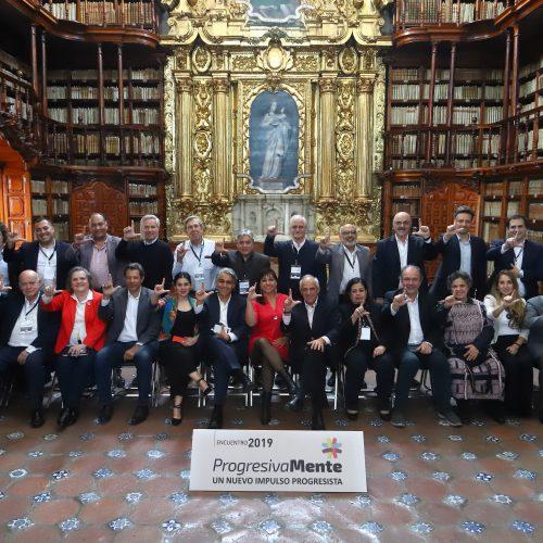 Líderes del PRO encabezan primer aniversario del Grupo de Puebla, impulsado por Marco Enríquez-Ominami