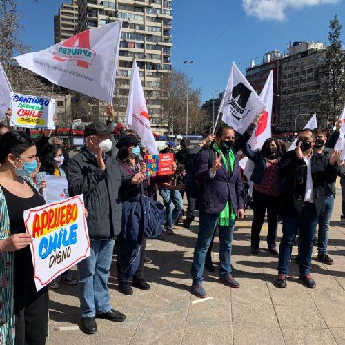 """Progresistas lanzan campaña oficial por el Apruebo: """"Se inicia un proceso histórico conquistado por los chilenos"""""""