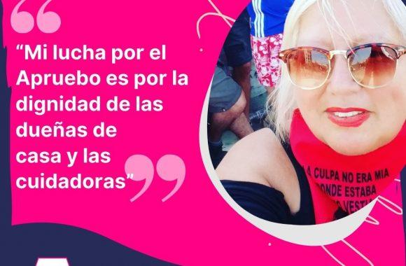 """Berta Montecinos, dirigenta social de Pudahuel: """"Mi lucha por el Apruebo es por la dignidad de las dueñas de casa y las cuidadoras"""""""