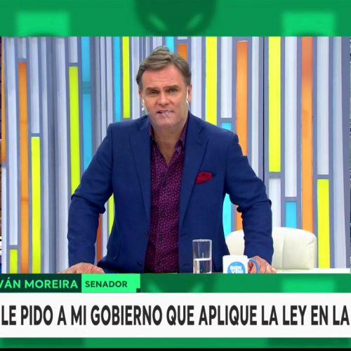 [T 13] Enríquez-Ominami y Schalper debaten sobre el paro de camioneros