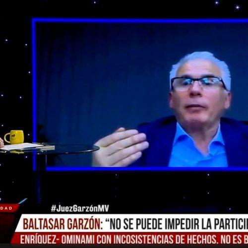 """Baltasar Garzón: """"No se puede impedir la participación política de Marco Enríquez-Ominami con unas argumentaciones inconsistentes""""."""
