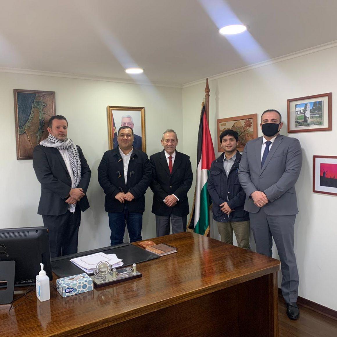"""Líderes del Partido Progresista se reúnen con el Embajador de Palestina en Chile: """"Nuestra condena a la violencia del Estado de Israel contra Palestina es total y absoluta"""""""